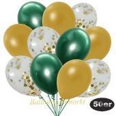 luftballons-50er-pack-15-gold-konfetti-und-18-metallic-gold-17-chrome-gruen