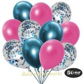 luftballons-50er-pack-15-hellblau-konfetti-und-18-metallic-pink-17-chrome-blau
