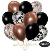 luftballons-50er-pack-8-rosegold-7-schwarz-konfetti-und-18-metallic-schwarz-17-chrome-kupfer