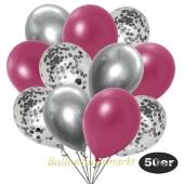 luftballons-50er-pack-15-silber-konfetti-und-18-metallic-burgund-17-chrome-silber