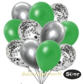 luftballons-50er-pack-15-silber-konfetti-und-18-metallic-gruen-17-chrome-silber