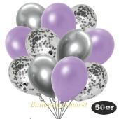 luftballons-50er-pack-15-silber-konfetti-und-18-metallic-lila-17-chrome-silber