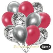 luftballons-50er-pack-15-silber-konfetti-und-18-metallic-rot-17-chrome-silber