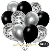 luftballons-50er-pack-15-silber-konfetti-und-18-metallic-schwarz-17-chrome-silber