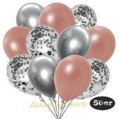 luftballons-50er-pack-8-silber-7-rosegold-konfetti-und-18-metallic-rosegold-17-chrome-silber