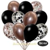 luftballons-50er-pack-8-rosegold-7-schwarz-konfetti-und-18-metallic-schwarz-17-chrome-rosegold