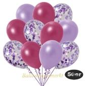 luftballons-50er-pack-15-flieder-konfetti-und-18-metallic-burgund-17-metallic-lila