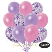 luftballons-50er-pack-15-flieder-konfetti-und-18-metallic-lila-17-metallic-rose