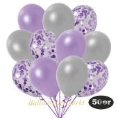 luftballons-50er-pack-15-flieder-konfetti-und-18-metallic-lila-17-metallic-silber