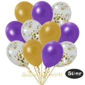 luftballons-50er-pack-15-gold-konfetti-und-18-metallic-violett-17-metallic-gold