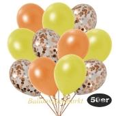 luftballons-50er-pack-15-orange-konfetti-und-18-metallic-gelb-17-metallic-orange
