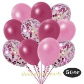 luftballons-50er-pack-15-pink-konfetti-und-18-metallic-burgund-17-metallic-rose