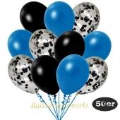 luftballons-50er-pack-15-schwarz-konfetti-und-18-metallic-blau-17-metallic-schwarz