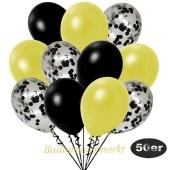 luftballons-50er-pack-15-schwarz-konfetti-und-18-metallic-gelb-17-metallic-schwarz