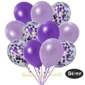 luftballons-50er-pack-15-violett-konfetti-und-18-metallic-lila-17-metallic-violett