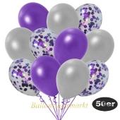 luftballons-50er-pack-15-violett-konfetti-und-18-metallic-silber-17-metallic-violett