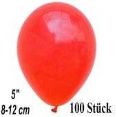 Luftballons 12 cm, Korallenrot, 100 Stück