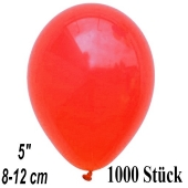 Luftballons 12 cm, Korallenrot, 1000 Stück