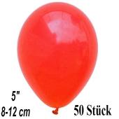 Luftballons 12 cm, Korallenrot, 50 Stück