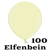 Mini Perlmutt Luftballons, 8-12 cm, 100 Stück, Elfenbein