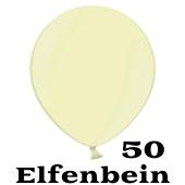 Mini Perlmutt Luftballons, 8-12 cm, 50 Stück, Elfenbein