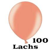 Mini Perlmutt Luftballons, 8-12 cm, 100 Stück, Lachs