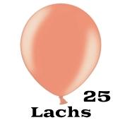 Mini Perlmutt Luftballons, 8-12 cm, 25 Stück, Lachs