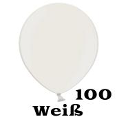 Mini Perlmutt Luftballons, 8-12 cm, 100 Stück, Weiß