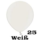 Mini Perlmutt Luftballons, 8-12 cm, 25 Stück, Weiß