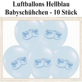 Baby Party Luftballons, Babyschuhe, Hellblau