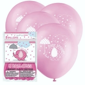 Luftballons Baby Shower, Pink