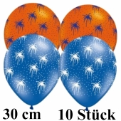 Luftballons Feuerwerk, bunt sortiert, 30 cm, 10 Stück
