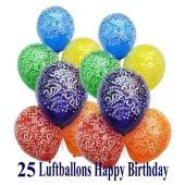 Luftballons zum Geburtstag, Happy Birthday, Latexballons in bester Qualität zur Dekoration der Geburtstagsfeier