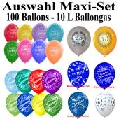 Helium-Set-100 Luftballons-zur-Auswahl-selbst-bestimmen-10-Liter-Ballongasflasche