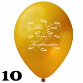 Luftballons Alles Gute zur Konfirmation, Gold, 10 Stück, 30 cm Latexballons