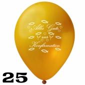 Luftballons Alles Gute zur Konfirmation, Gold, 25 Stück, 30 cm Latexballons