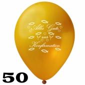 Luftballons Alles Gute zur Konfirmation, Gold, 50 Stück, 30 cm Latexballons