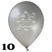 Luftballons Alles Gute zur Konfirmation, 10 Stück, 30 cm Latexballons