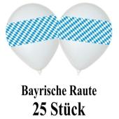 Luftballons bayrische Raute 25 Stueck