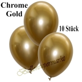 Luftballons in Chrome Gold, 28-30 cm, 10 Stück