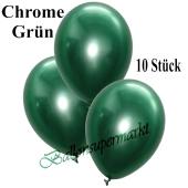 Luftballons in Chrome Grün, 28-30 cm, 10 Stück