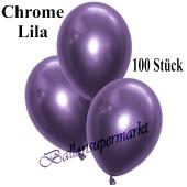 Luftballons in Chrome Lila, 28-30 cm, 100 Stück