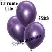 Luftballons in Chrome Lila, 28-30 cm, 5 Stück