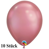 Qualatex Luftballons in Chrome Mauve, 27,5 cm, 10 Stück