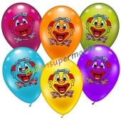 Luftballons Funny Clowns, 6 Stück