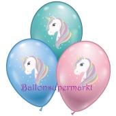 Luftballons aus Latex Einhorn