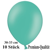 Premium Luftballons aus Latex, 30 cm - 33 cm, aquamarin, 10 Stück