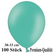 Premium Luftballons aus Latex, 30 cm - 33 cm, aquamarin, 100 Stück
