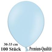 Premium Luftballons aus Latex, 30 cm - 33 cm, babyblau, 100 Stück