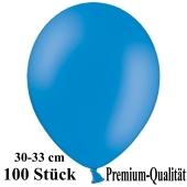 Premium Luftballons aus Latex, 30 cm - 33 cm, blau, 100 Stück